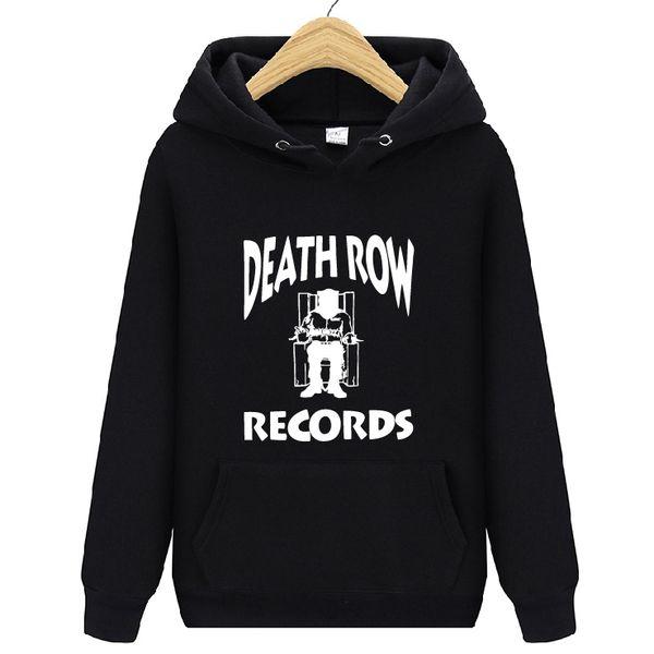 Death Row Records Tupac sudadera con capucha para hombre mujer de gran tamaño de manga larga Streetwear Fleece Hoodie Jumper Jersey de abrigo