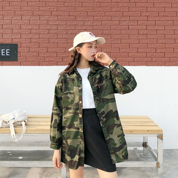 3087ffcad Compre Envío Gratis Estilo Hip Hop Chaqueta De Camuflaje Militar Para Mujer  Camisa De Manga Larga Ropa Streetwear A $12.07 Del Trendleague | ...