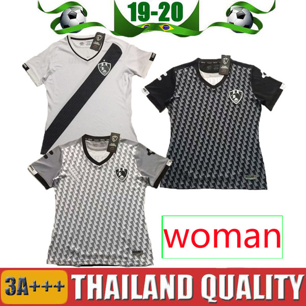 Women 2019 Liga Mx Club de Cuervos Soccer Jersey girl 19 20 Gray black white Mexico Home Away 3RD Football uniforms Jerseys Shirts