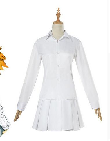 Anime The Promised Neverland Emma Cosplay Costume Yakusoku no Neverland Cosplay Costume Girl School Uniform for Women