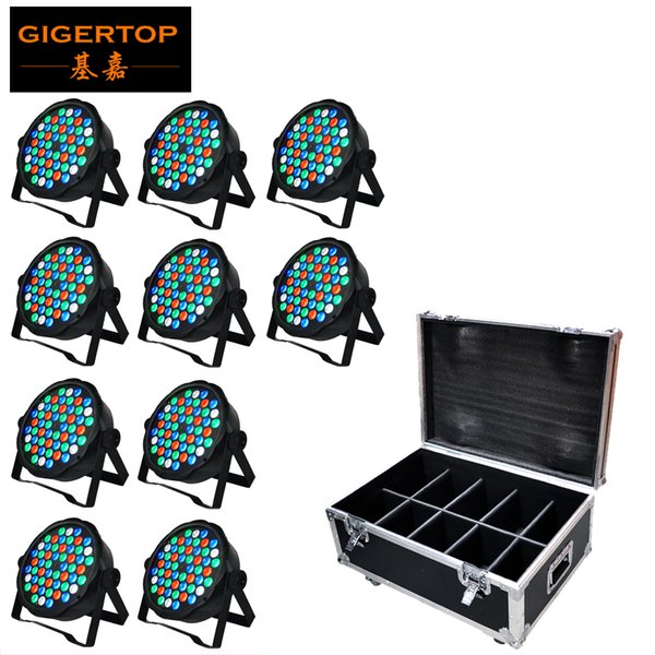 TIPTOP Stage Light 54 x 3W RGB Triple Color Flat Led Par Light Cheap Price Smooth Dimmer Wall Washer Professional Stage Lighting