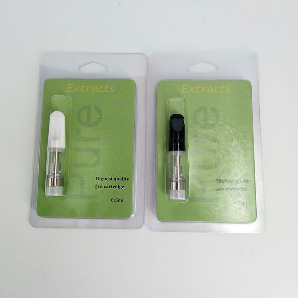 mit Verkaufsverpackung Th205 G2 Keramikspule O Pen Bud Touch 92a3 Keramikglaszerstäuber .5ml 1ml Wickless Extract Ölwegwerfpatrone