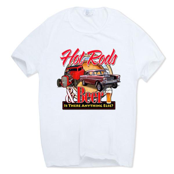 Impressão Rato Haste Escola Clássico Muscle Car T-shirt O Pescoço Mangas Curtas de Verão Ocasional Americano Auto Camiseta Hcp789