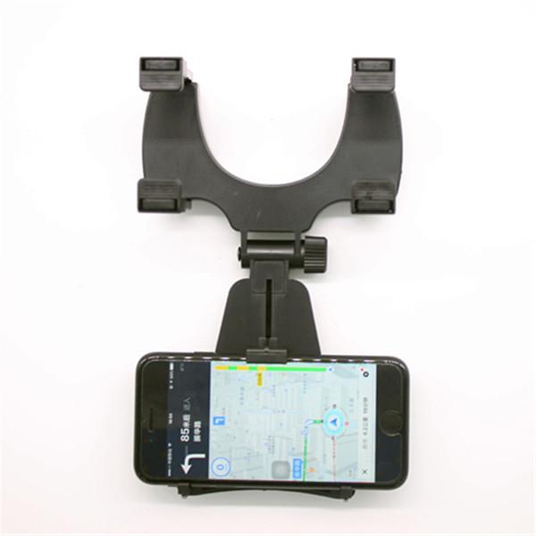 Araç Montaj Araç Sahipleri Evrensel Dikiz Aynası Tutucu Cep Telefonu GPS Tutucu Standları Cradle Oto Kamyon Ayna Desteği Çok Fonksiyonlu Braketi