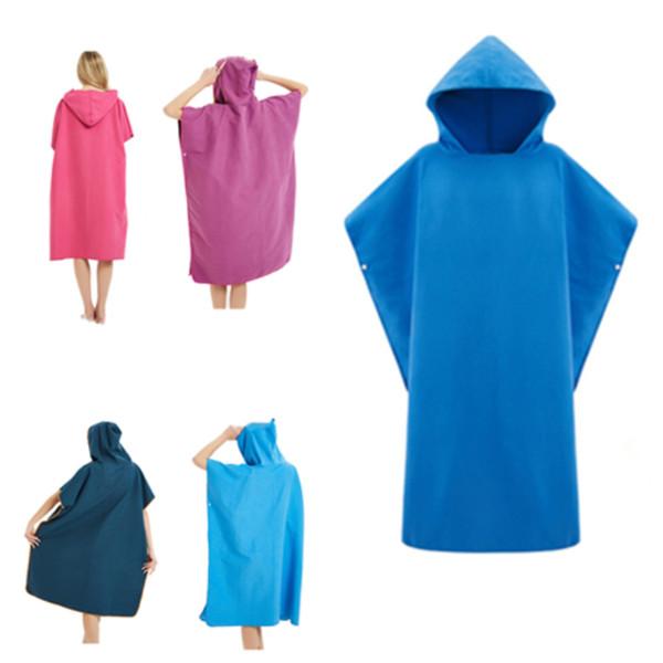 chaude solide plage peignoir manteau serviette de plage peignoirs unisexe peignoirs à capuchon couverture extérieure Cape Cape Cape ménage vêtements T2I5192