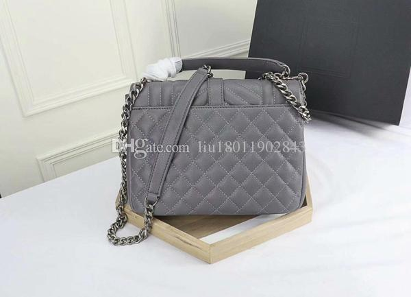 New lady's handbags,Silver hardware,Metal pendant bag,High quality chain shoulder bag,24cm Diamond flap bag Leather envelope bag 1608