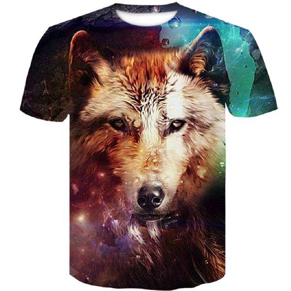 Newest Harajuku Wolf 3D Print funny Cool T-shirt Men/Women Summer 2019 brand Hip Hop Tops Tees Tshirts Fashion tshirt men 4xl