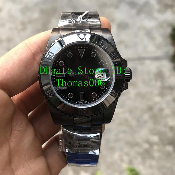 DP Fábrica de Melhor Qualidade 116610LN Relógios De Luxo 2813 Automático Completa Preto Mens Watch 316L Aço Inoxidável Melhores Relógios