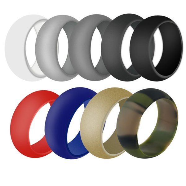 best selling Cross Silicone Wedding Ring for Men for Women Premium Medical Grade Silicone Rubber Wedding Bands Size 8 9 10 11 12 13 for Crossfit Workout