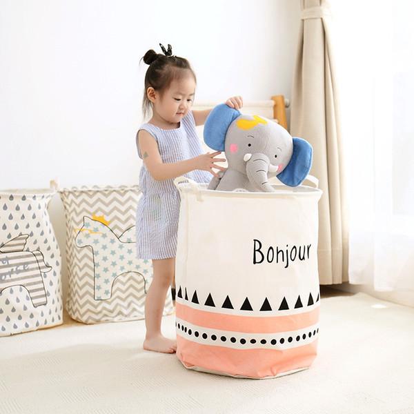 2018 Barrel sale étanche pliant Toy Vêtements Creative panier Bra cravate Socks Boîte de rangement Sac Bins Organisateur Panier à linge SH190923