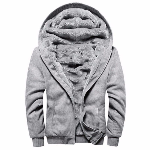 M-5XL grande US / taille Eur hoodies d'hiver d'homme occasionnels sweat homme manteau vestes à capuchon Hoodi sweat polaire chaud, plus épais
