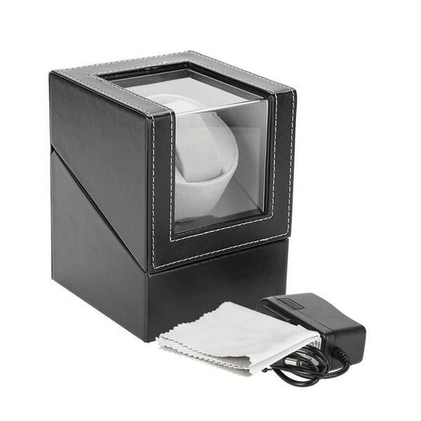 best selling Automatic Single Watch Winder Display Box Holder Automatic Watch Winding Box Jewelry Case Storage Organizer Box Black Brown