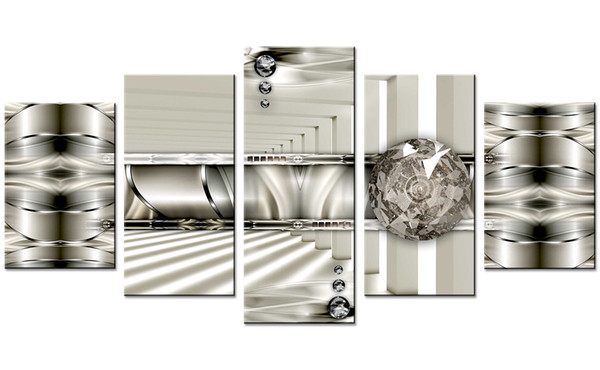 Crystal Ball Stripe Decor Sparkling Painting Canvas Wall Art Artwork Modren Picture for Wall Home Decoration Nice Gift