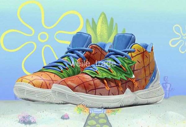 2020 zapatos nuevos muchachos Kyries 5 SPSB TV PE Esponja Baloncesto x Pineapple House Colección Irving 5s cinco niños para hombre de las zapatillas de deporte entrenadores deportivos