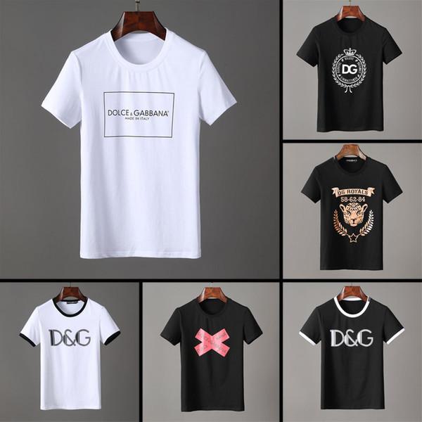 2019 famous Brand new men's t-shirt Short Sleeve Cotton summer t shirt men Designer tshirt