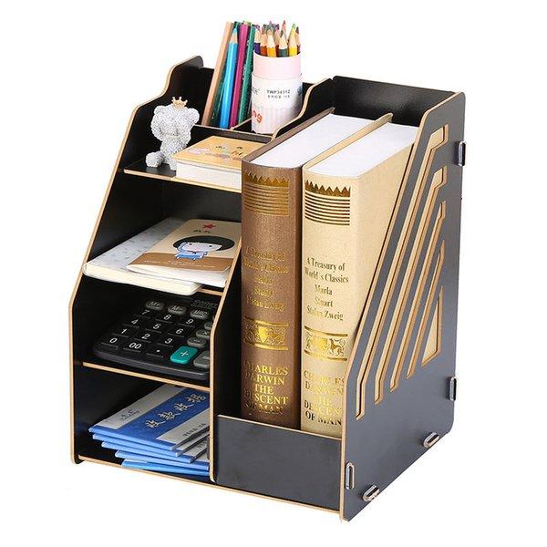 2019 Actionclub Computer Desk Storage Bookshelf Desktop Bookcase Student Easy Shelves Small Office Storage Rack Living Room Furniture From