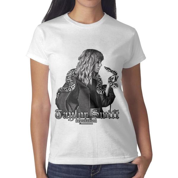 Taylor Swift snake Women's T-shirt Cozy Workout Vintage T Shirt Printing Crew Neck Shirts Womans T Shirt Dress