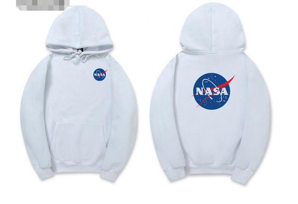 NASA Hoodie Streetwear Hip Hop Fashion Khaki Black Gray Pink White High Quality Hoodies Womens Mens Hoodies Sweatshirts XXL Plus Size