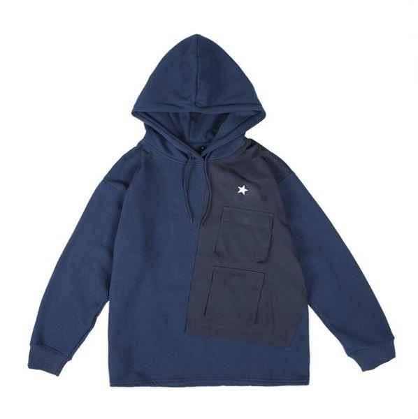 Marka erkek kadife kazak yeni moda yama cep sıcak kazak satış açık spor basketbol adam hoodie pamuk kaliteli rahat kıyafetler