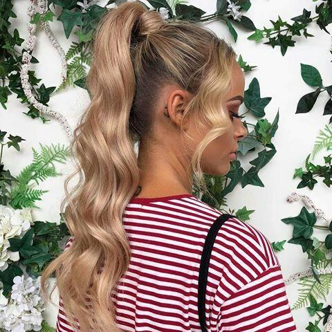 Women HairPiece Ponytail Wavy Wrap Drawstring