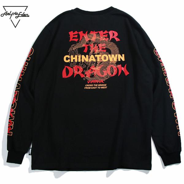 Aelfric Eden Autumn Long Sleeve T Shirt Street Wear Men Letter Printing Fashion Hip Hop Tee Shirt Unisex Harajuku T-shirts Mt17 C19022301