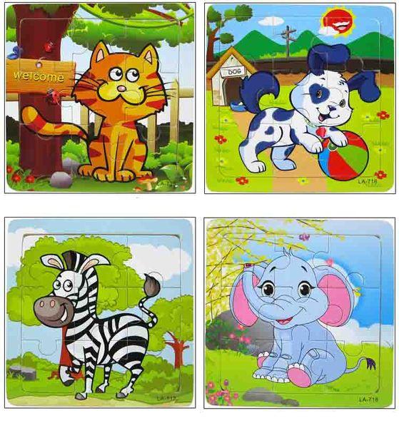Vente chaude 9/20 Tranche Petite Pièce Puzzle Jouet Enfants Enfants et Véhicules En Bois Puzzle Jigsaw Bébé Jouets Éducatifs pour Enfants Cadeau