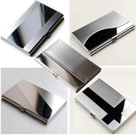 Hombres de calidad superior Banco de acero, plata, aluminio, ID de negocios, titular de la tarjeta de crédito, cubierta de la caja A # dropship