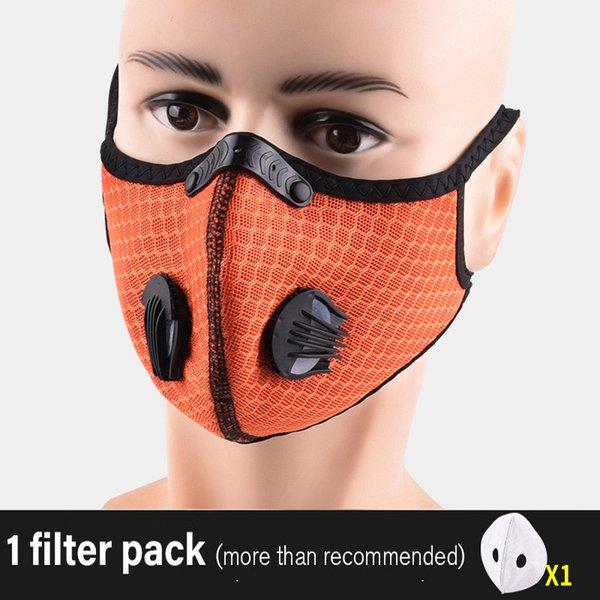 orange avec un filtre