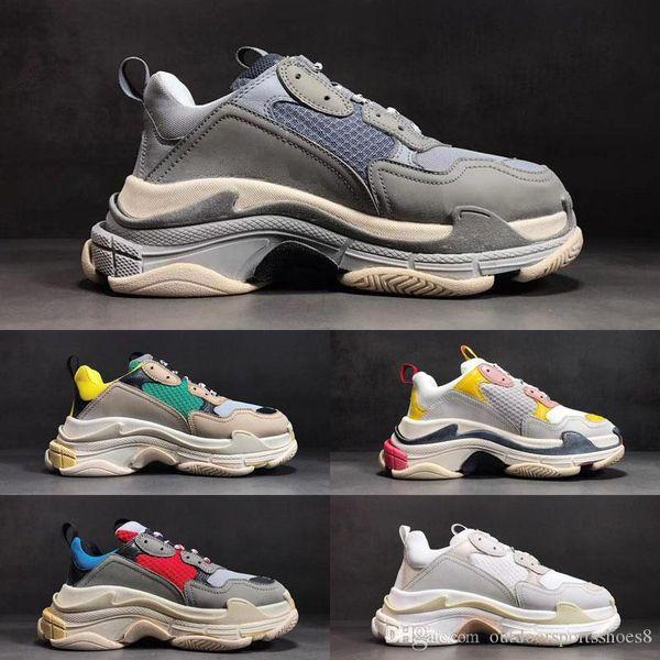 2019 neue Multi Luxus Triple S Designer Sneaker Kombination Sohlen Stiefel Marke Mens Womens Top-Qualität Freizeitschuh Damenmode Schuhe