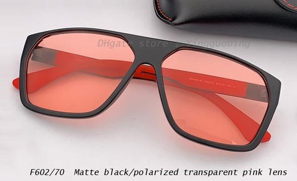 negro mate / polarizado transparente rosa