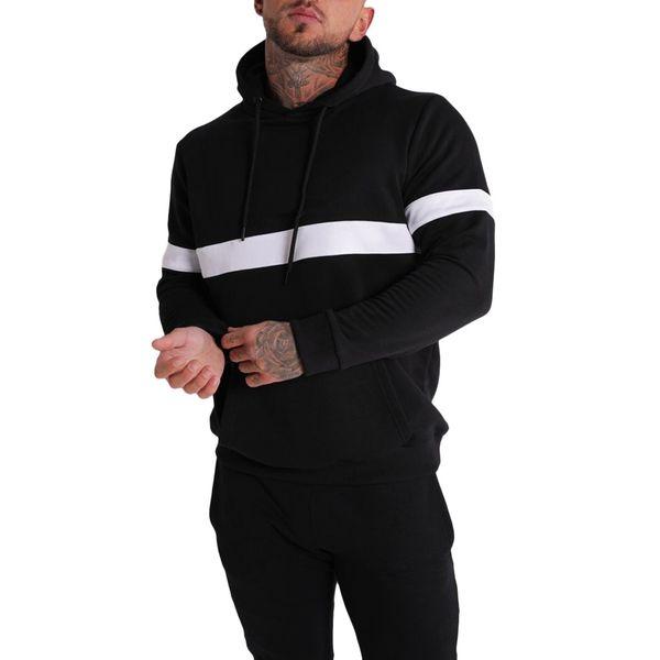 Hombres Otoño Invierno Deportes Patchwork Sudadera Manga larga Tops Blusas M-2XL sudaderas con capucha streetwear sudadera hombre Dropshipping