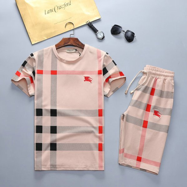 Hot Summer Fashion Tracksuit For 2019 Casual Outfit Short Sleeves T Shirt And Pants Knight Pattern And High Quality Two-piece Of One Set