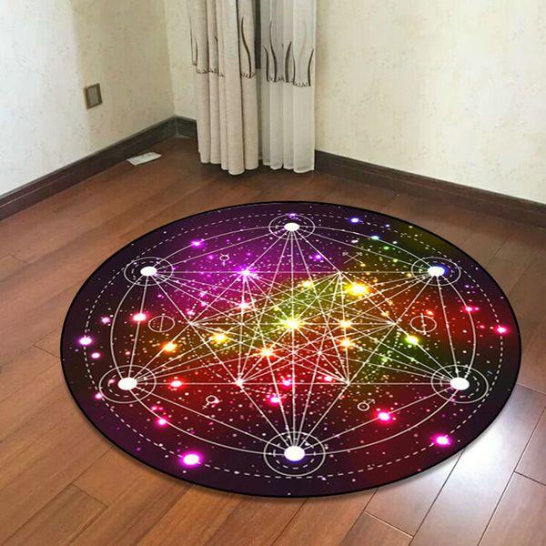 Sonho geométrico colorido redondos Tapetes para sala de estar Quarto Área Rug E Tapete Computer Chair Tapete Crianças quarto Home Decor