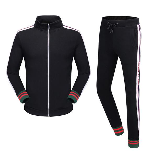 Hot 2019 Neue Trainingsanzug Jacken Set Mode Laufende Trainingsanzüge Medusa Männer Sport Anzug Brief Druck Schlank Hoodies Kleidung Track Kit Sport