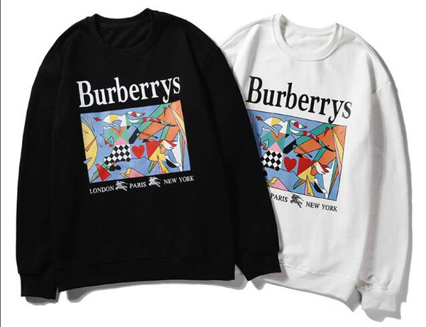 2019 outono nova camisola dos homens com capuz camisola dos esportes dos desenhos animados impresso em torno do pescoço camisola capuz