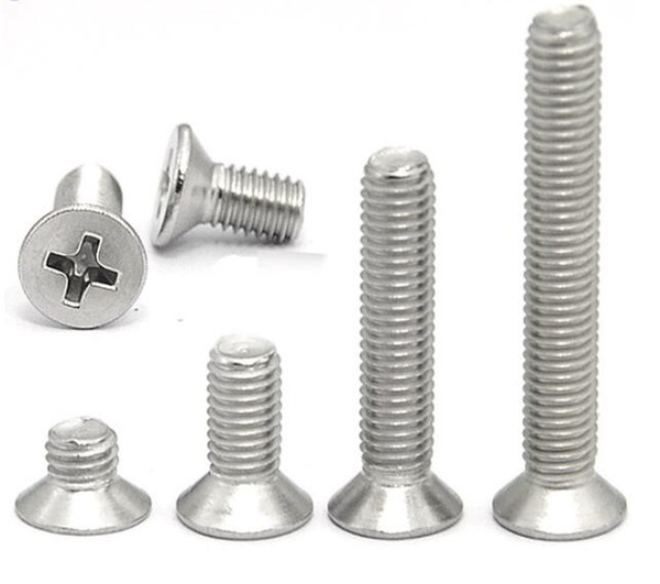 top popular Long Screws 304 stainless steel screw Nails M5 Cross recessed countersunk head Long screws Wholesale New High Quality Fasteners & Hardware 2021