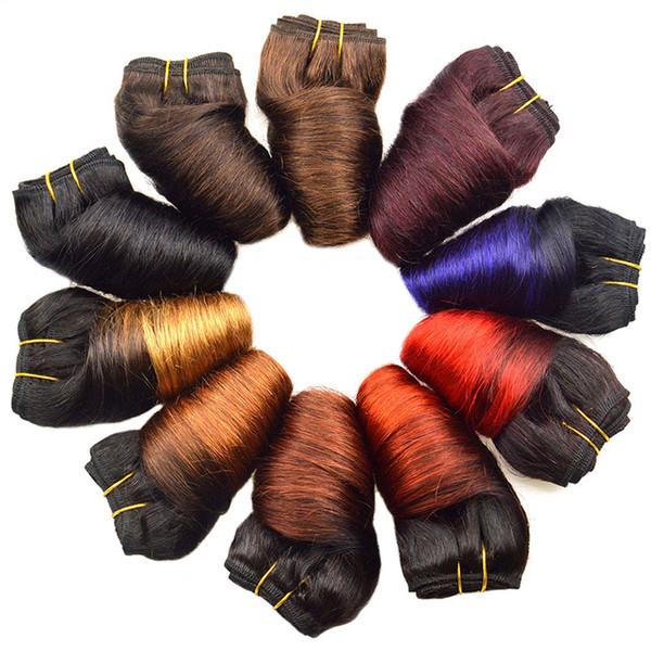 Black Friday Deals Bob peruana solto Wave 4 Pacotes Atacado 12 cores Ombre Weave Primavera Curly molhado e ondulado Humanos extensões do cabelo