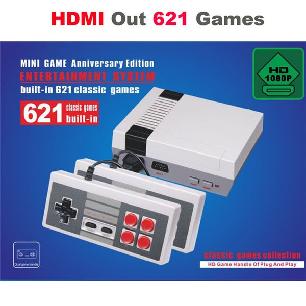 HDMI Output Super Mini TV Video Handheld family TV video Game Console Can store 621 Nes Games best Gifts with retail box