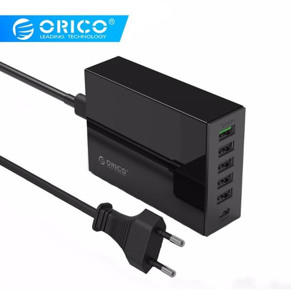 Orico 6 Portstype-c Qc2.0 Быстрое зарядное устройство Type-c 3.1a Зарядное устройство для мобильного телефона для Iphone Samsung и не только T190627