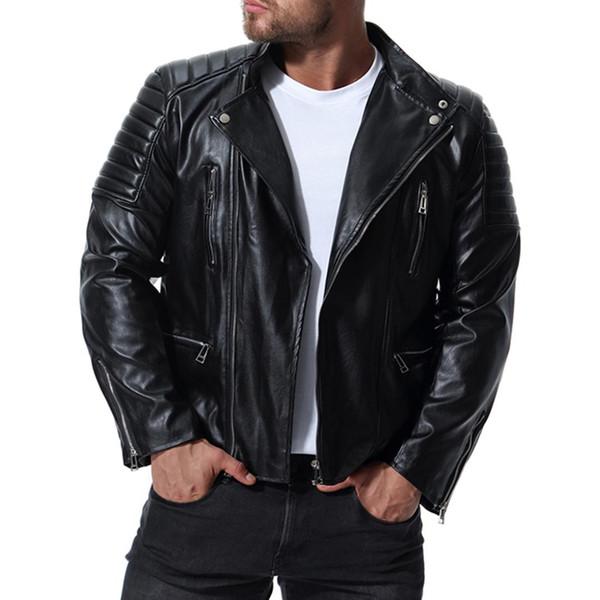 Yeni erkek yüksek dereceli Deri Motosiklet bisiklet Ceketler Slim Fit Dropshipping Ceket Rahat fermuar üst Palto Erkek Marka Giyim