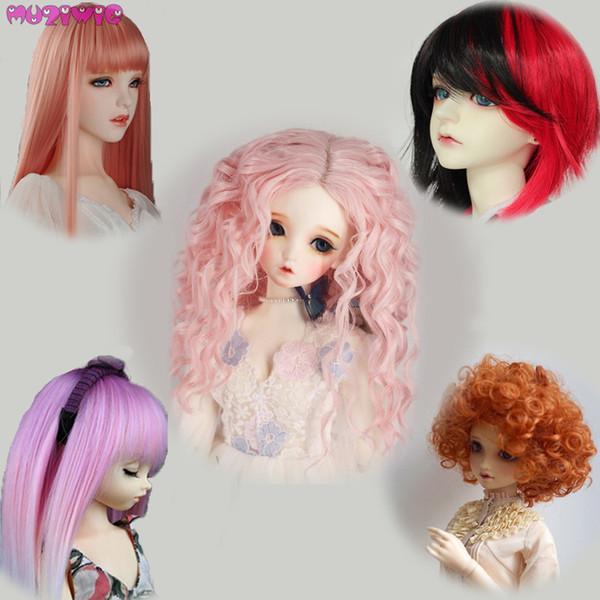 Alta qualidade de alta temperatura fio rosa marrom vermelho perucas para 1/3 1/4 1/6