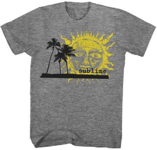 SUBLIME - Palm Trees Sun - T SHIRT S-2XL Nuovo ufficiale Live Nation Merchandise Uomo Donna Unisex Fashion tshirt Spedizione gratuita