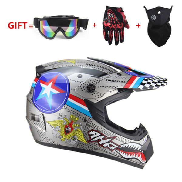 Fibra di carbonio Casco integrale del motociclo professionale che corre casco DOT Arcobaleno visiera Motocross Off Road Touring moto Mask