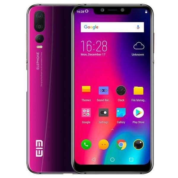 ELEFONE A5 4 GB de RAM 64 GB ROM Hélio P60 MTK6771 2.0 GHz Octa Core 6.18 Polegada Incell FHD + Full Screen Câmera Tripla Android 8.1