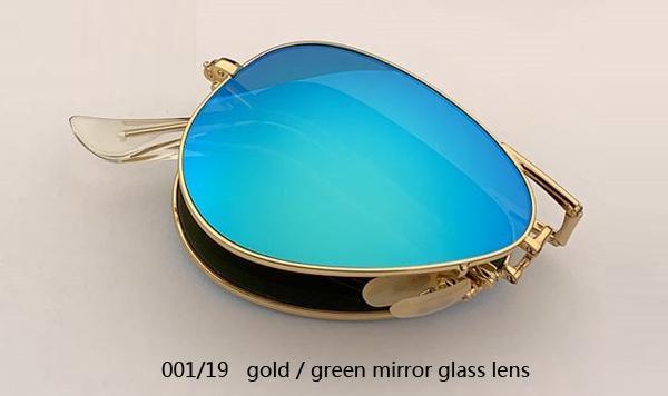 001/19 الذهب / عدسة مرآة خضراء