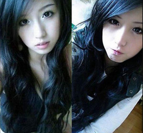 WIG free shipping Lolita Korean Style Long Wavy Black Daily Natural Looking Nightclub Party Wigs