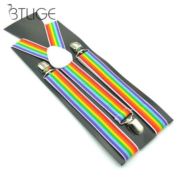 2019 Set di bretelle per cintura Classic Rainbow Classic per uomo Set di camicie unisex regolabili