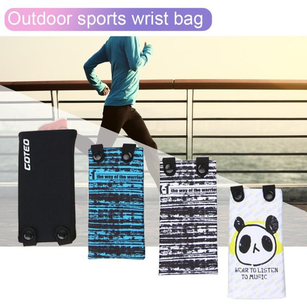 7 pulgadas bolsa de deporte bolsas de muñeca deportivas elástico de dibujos animados brazalete cubierta de la caja del teléfono móvil con agujero para auriculares para gimnasio correr bolsa de fitness