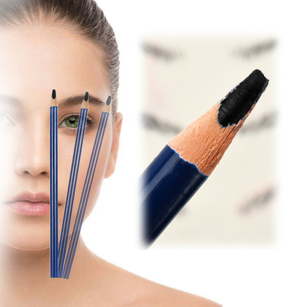 12 Pcs 5 Colors Eyebrow Tattoo Line Design Pencil Fixed Position Waterproof Positioning Pen Microblading Permanent Makeup Supply