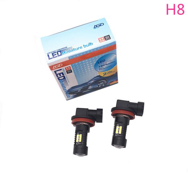6000k blanc H8 Free Error PlugPlay Ampoules LED pour Fog Light (Lot de 2 ampoules)